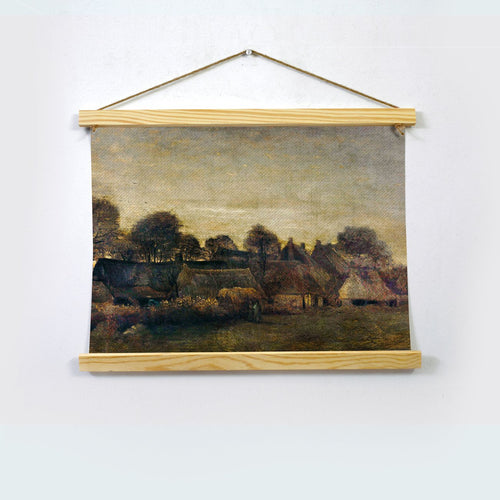 Farming Village At Twilight By Van Gogh Hanging Canvas