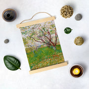 The Flowering Orchard By Van Gogh Hanging Canvas Painting - Meri Deewar