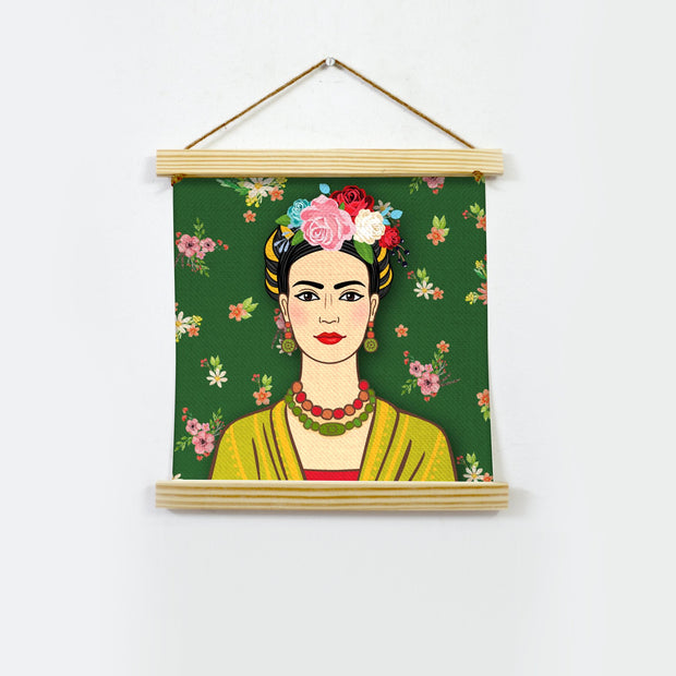Frida Kahlo Artwork Hanging Canvas Painting - Meri Deewar