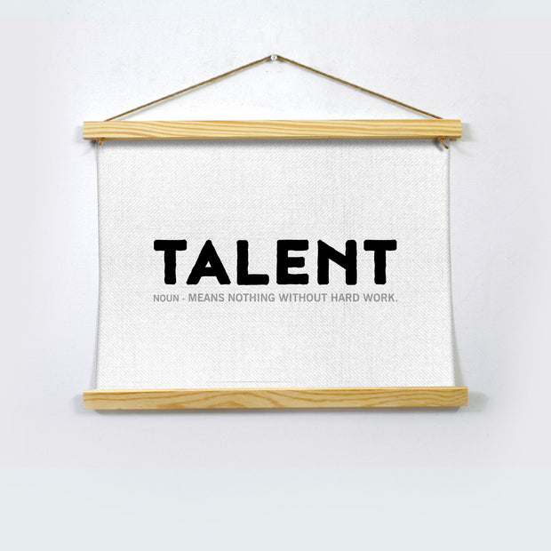 Talent Poster Hanging Canvas