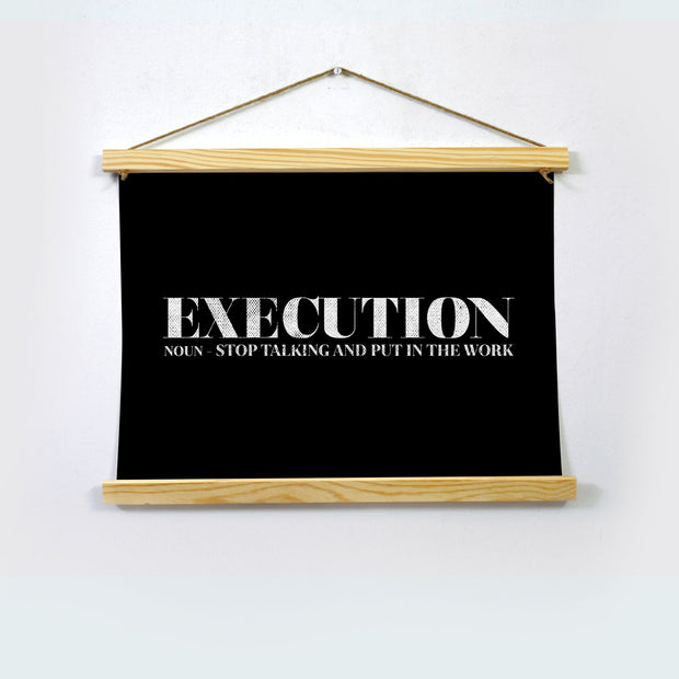 Execution Poster Hanging Canvas