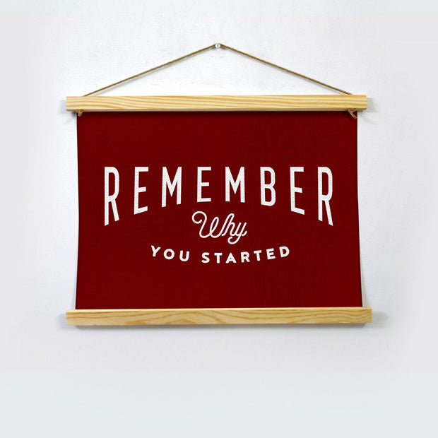 Remember Poster Hanging Canvas