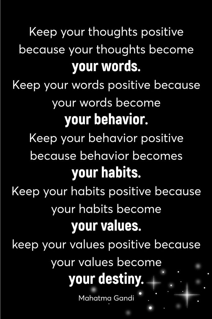 Keep your thoughts positive _ poster
