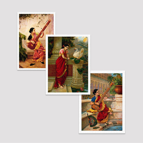 Set of 3 Print by Raja Ravi Varma