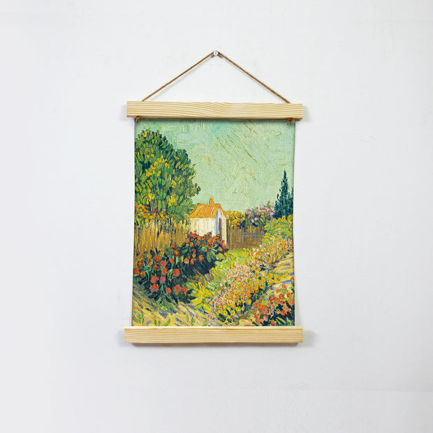 Garden Landscape Painting Hanging Canvas