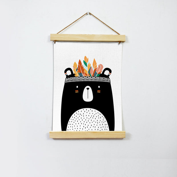 Bear Hanging Canvas