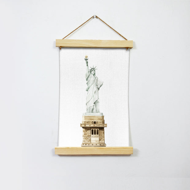 The Statue Of Liberty Hanging Canvas