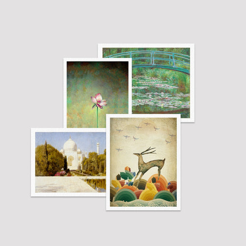 Set of 4 Print - Indus Collection