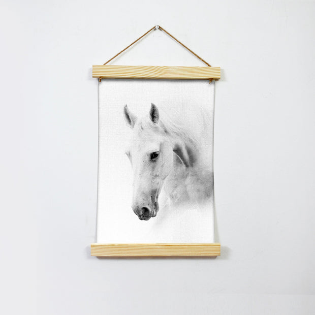 White Horse Hanging Canvas