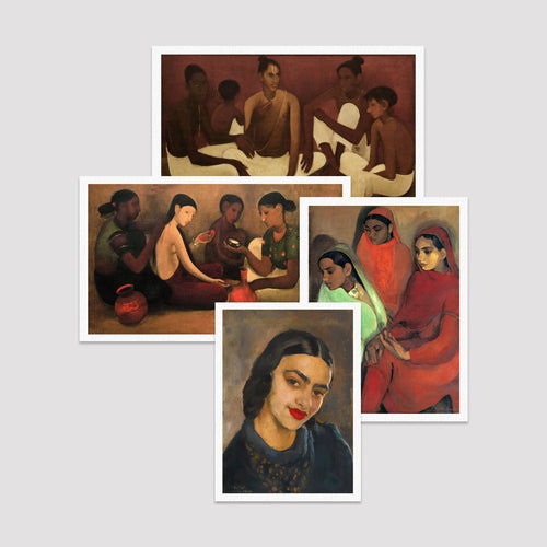 Set of 4 Print by Amrita Sher Gil