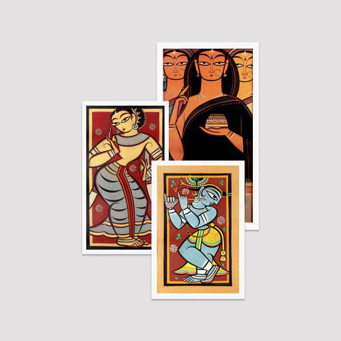 Set of 3 Print by Jamini Roy