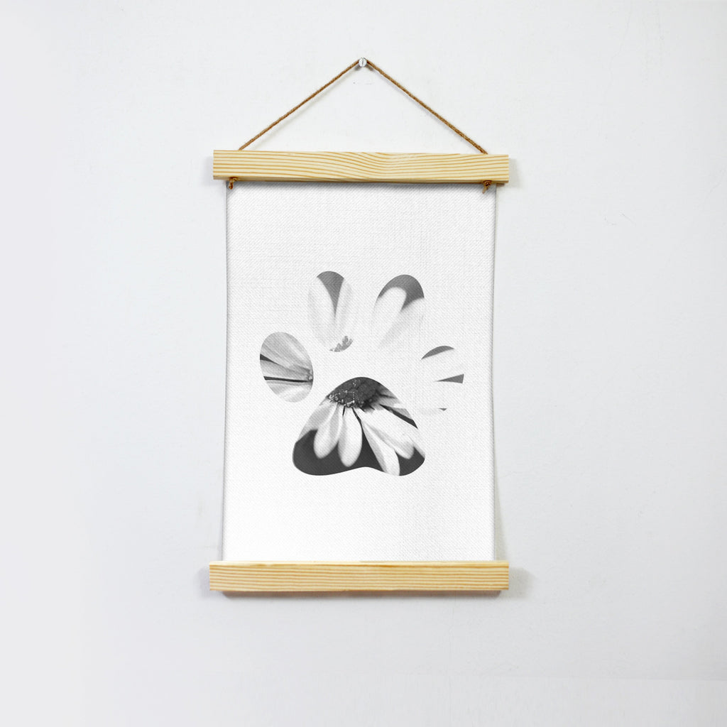 Claw With Flower Hanging Canvas