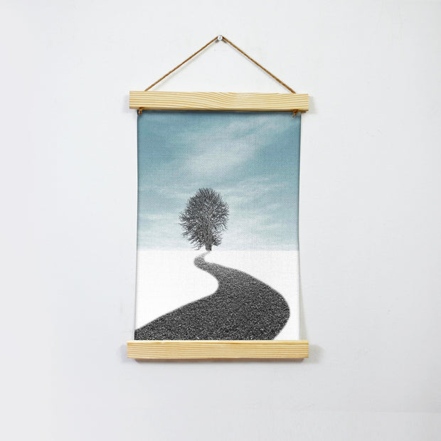 Dream Road Snow Painting Hanging Canvas