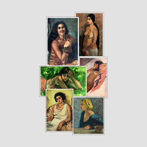 Set of 6 Print by Amrita Sher Gil