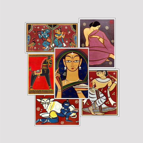 Set of 6 Print by Jamini Roy