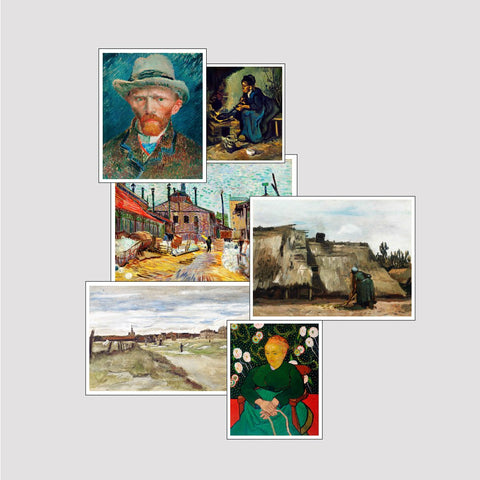 Set of 6 Print by Van Gogh