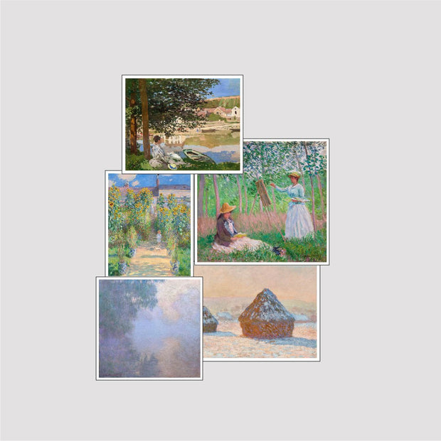 Set of 5 Print by Claude Monet