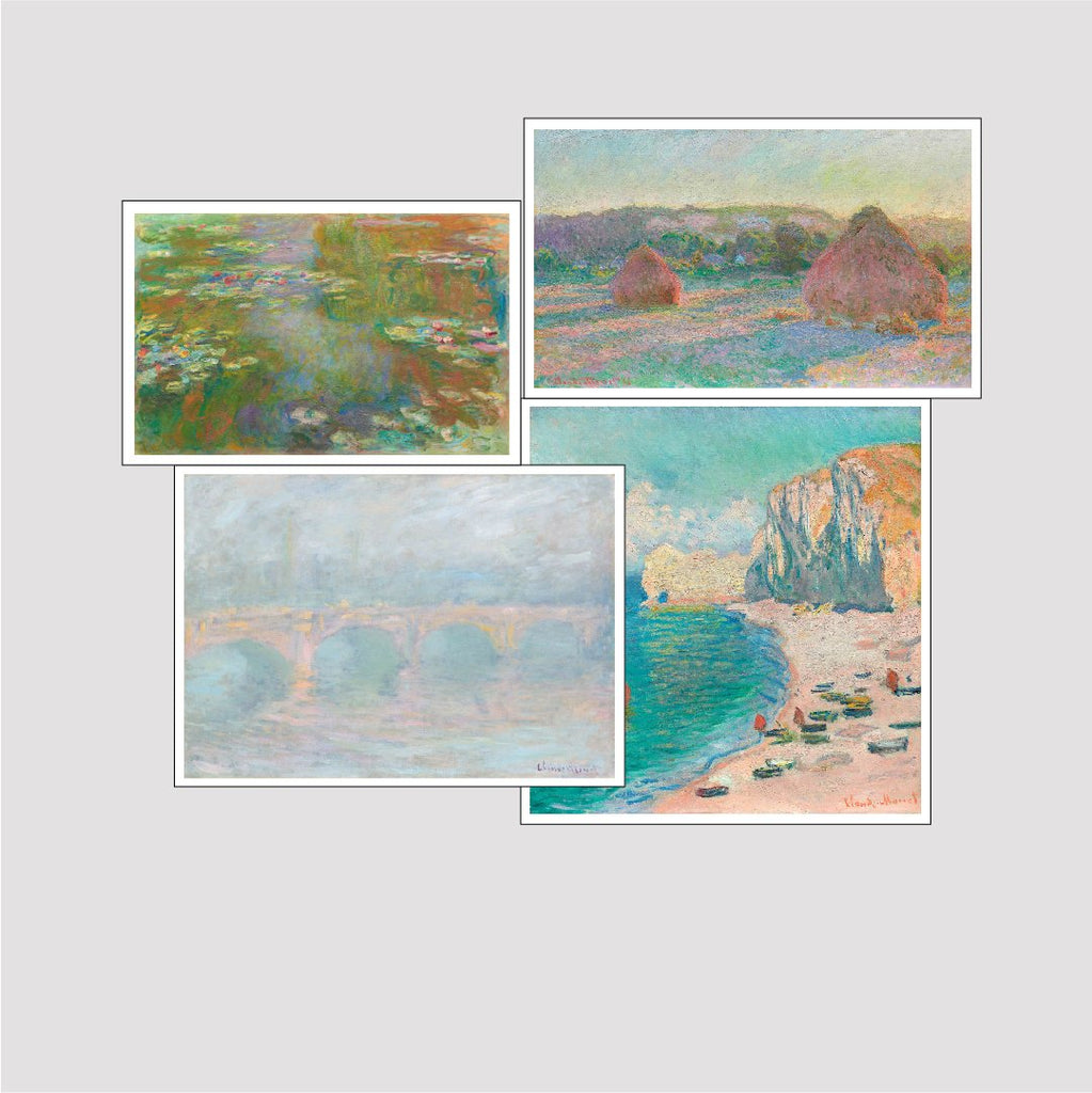 Set of 4 Print by Claude Monet