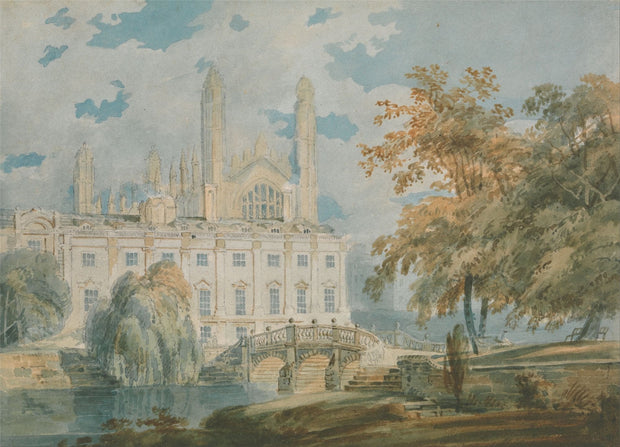 Cambridge from the Banks of the River Cam Painting-Meri Deewar
