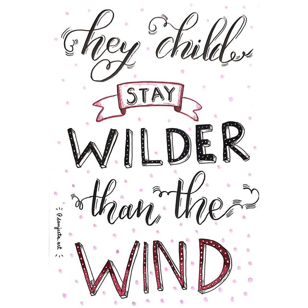 Wilder than the wind poster