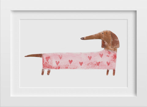 Baby Dachshund Dog Artwork
