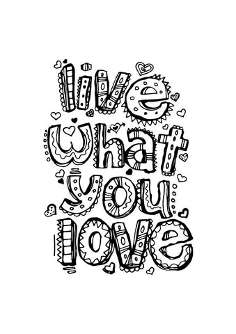 live what you love Poster - MeriDeewar
