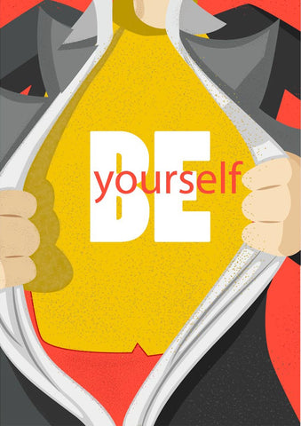 Be yourself start-up Poster