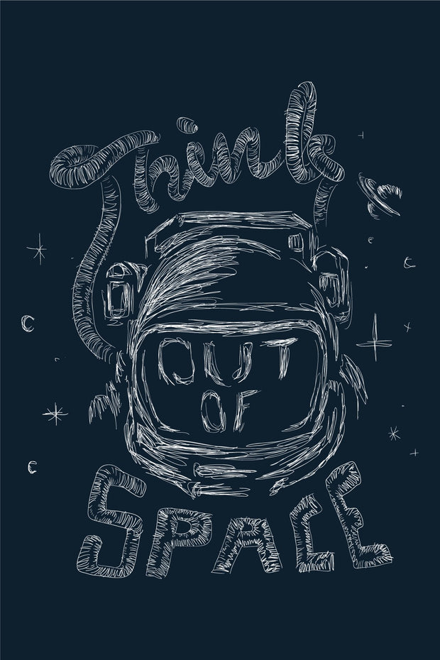 Think out of space poster