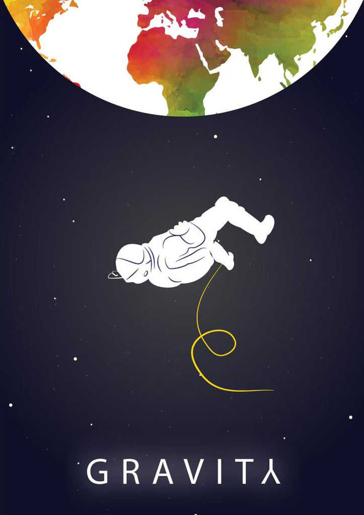 Gravity Space Astronaut Poster