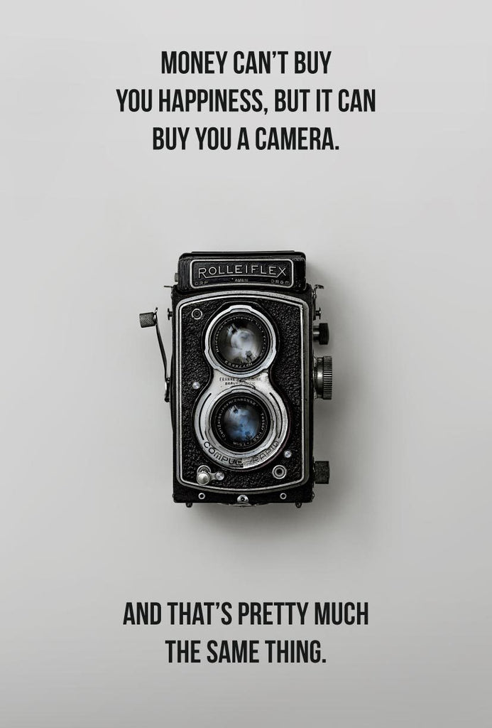 happiness is a camera poster