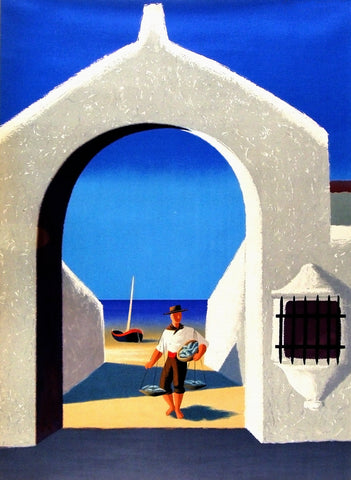 Fisherman from Spain vintage poster