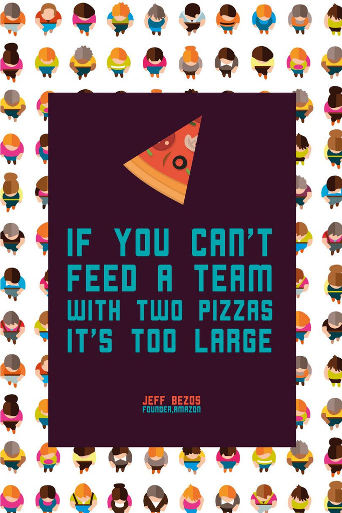 If you cant feed a team with two pizzas start up Poster