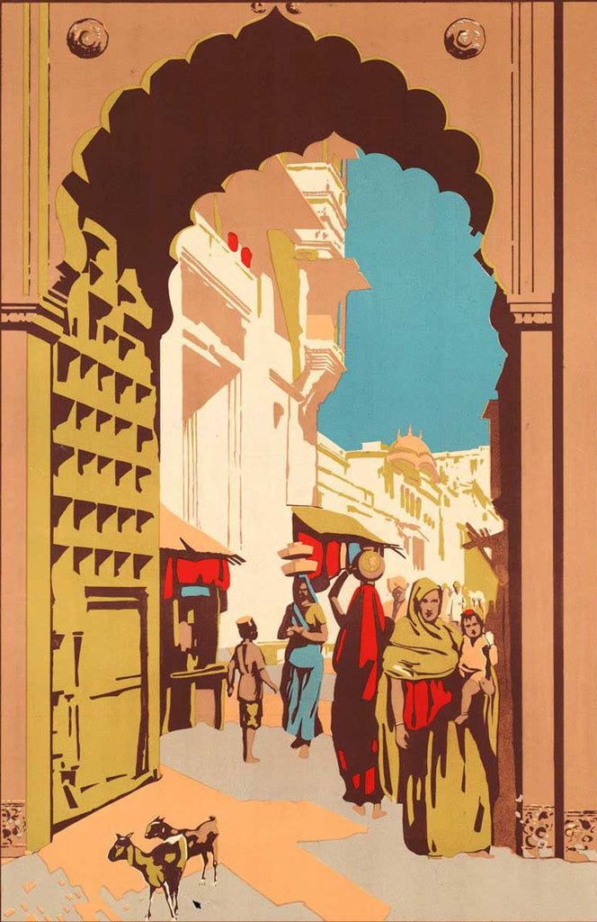 Streets of India Vintage Poster