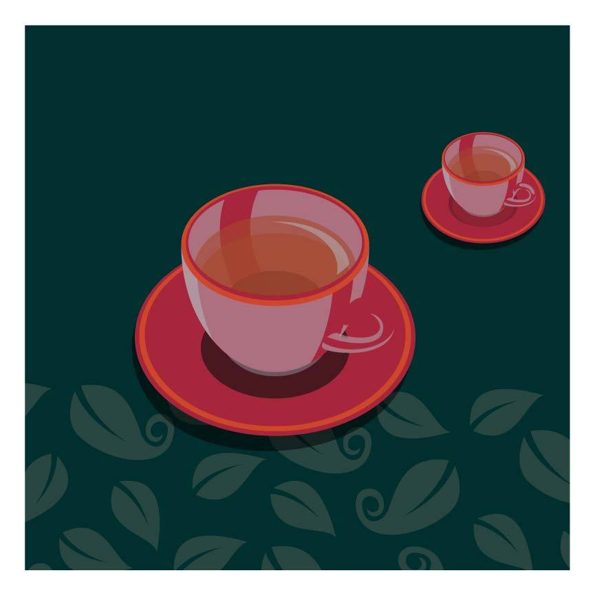 Tea cup Kitchen Poster
