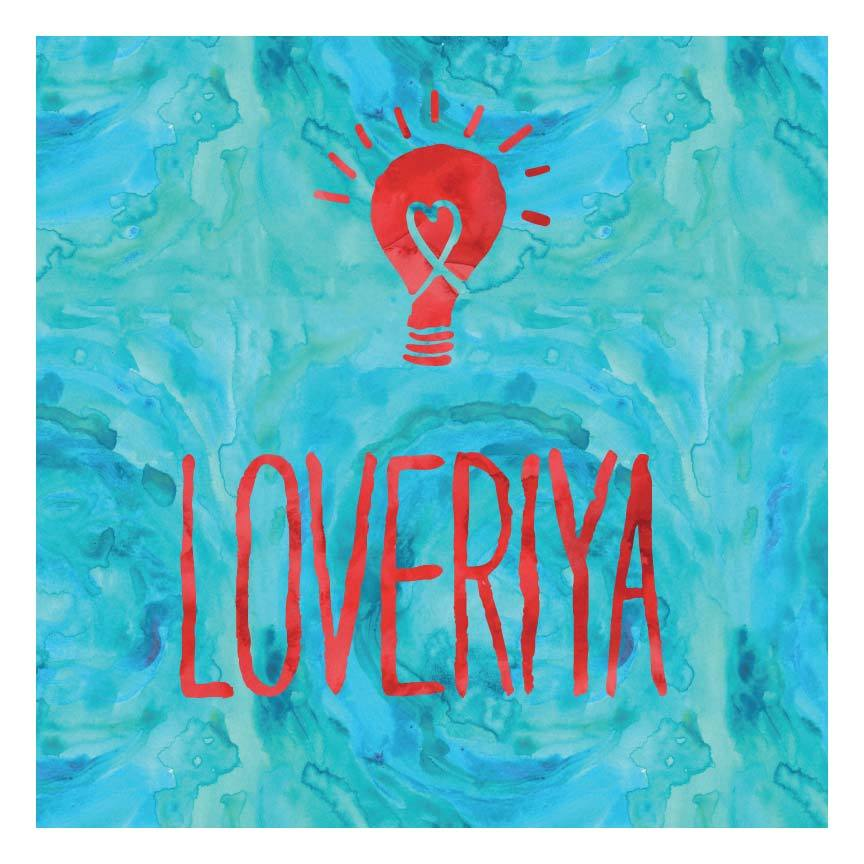 Loveriya typography poster