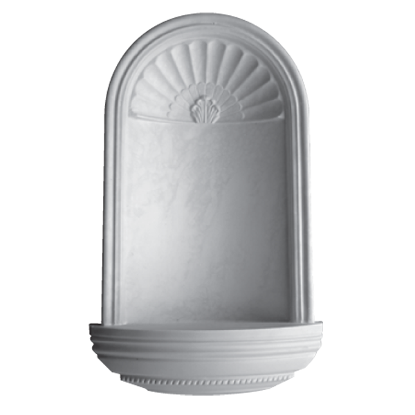 WN11 Corner Niche (Frosted Glass Base) - Plaster niche