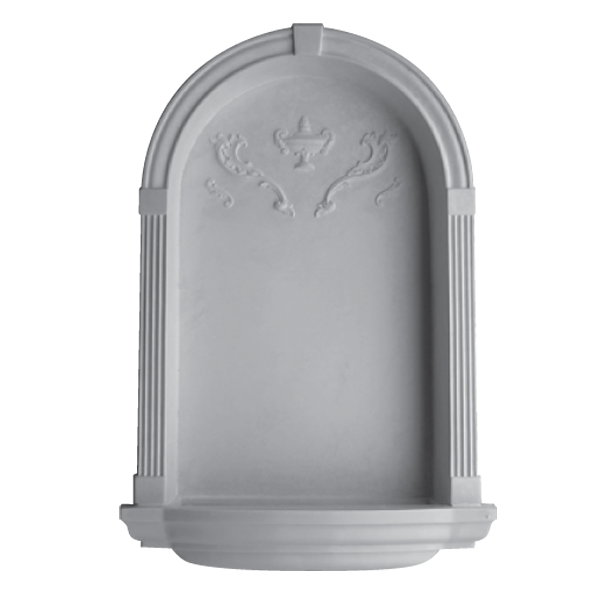 WN10 Corner Niche (Frosted Glass Base) - Plaster niche