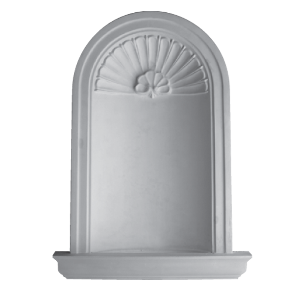 WN04 Large Niche (Frosted Glass Base) - Plaster niche