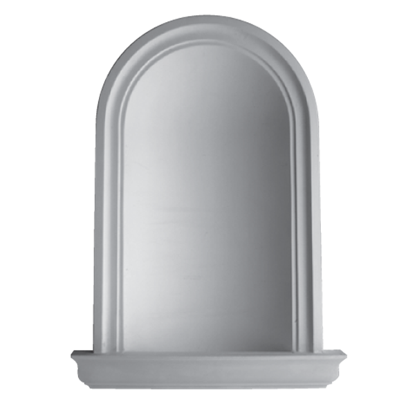 WN03 Plain Niche (Frosted Glass Base) - Plaster niche