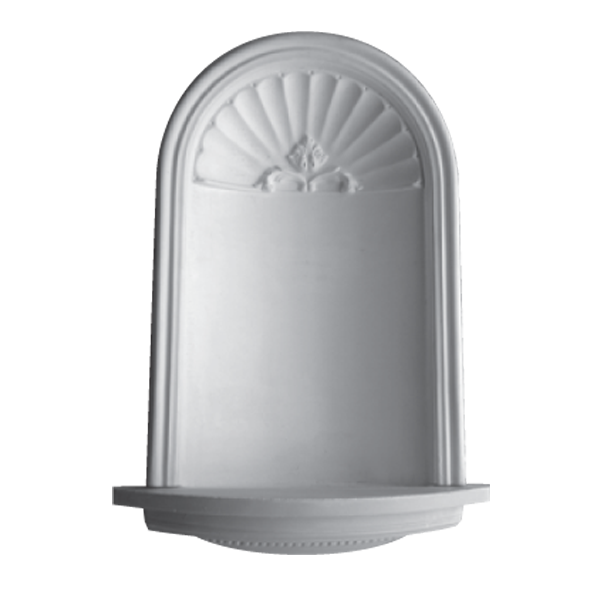 WN02 Large Niche (Frosted Glass Base) - Plaster niche