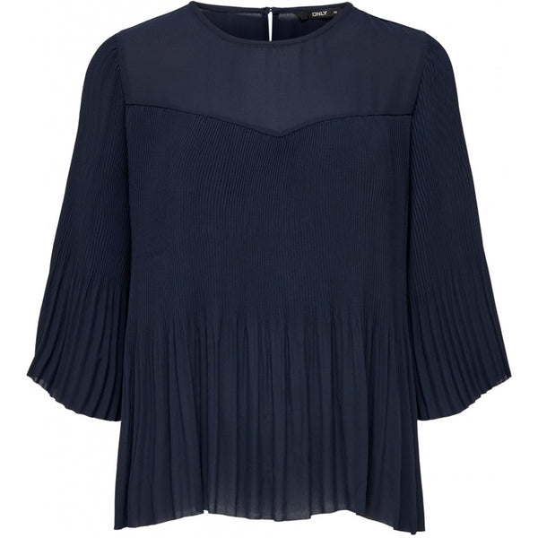 ONLY ONLY Petunia 3/4 Plisse Top Top Navy