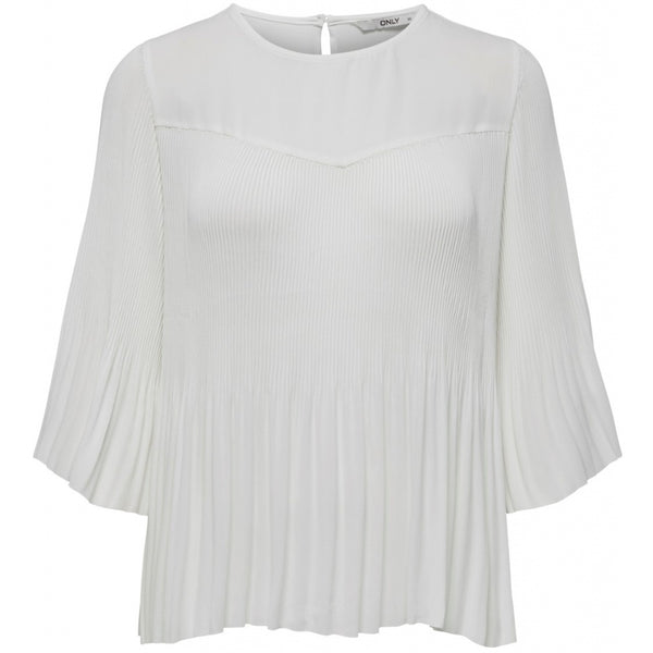 ONLY ONLY Petunia 3/4 Plisse Top Top White