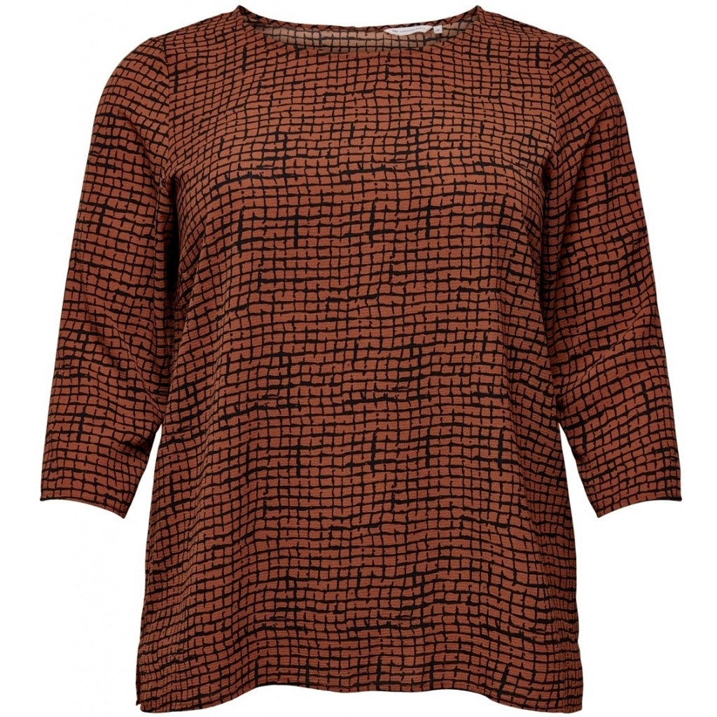 Image of   CARMAKOMA Lux Anna 3/4 Top PLUSSIZE - Ginger Bread - 46