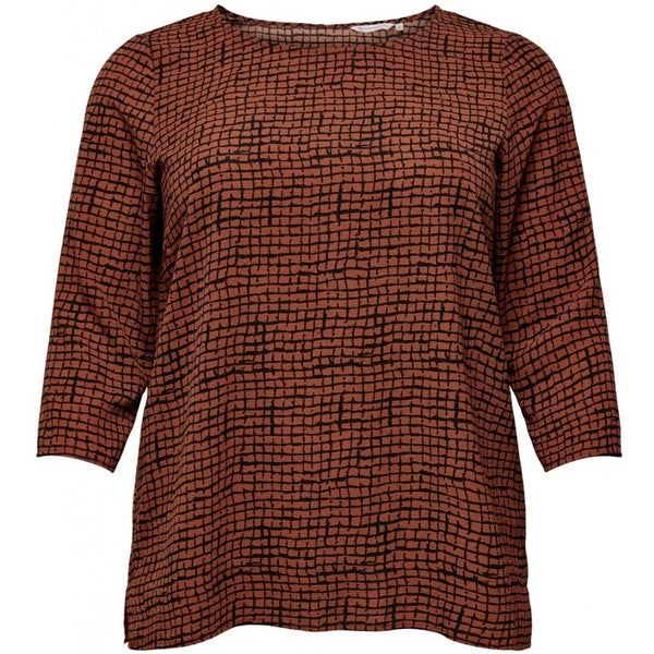 ONLY Carmakoma CARMAKOMA Lux Anna 3/4 Top PLUSSIZE Top Ginger Bread