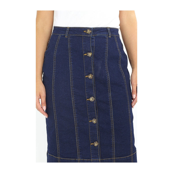 Tex-Time Brave soul dame nederdel kelby Skirt Denim Blue