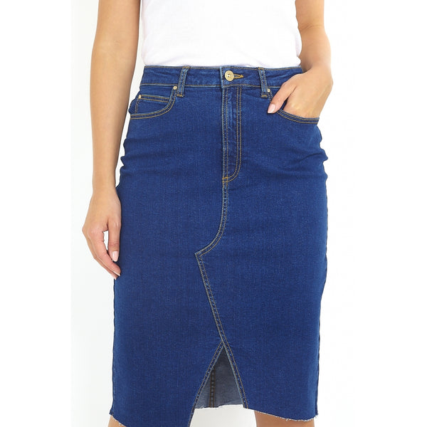 Tex-Time Brave soul dame nederdel willow Skirt Light Blue Denim