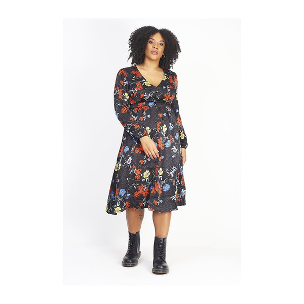 Tex-Time Bravesoul dame kjole Plus Dress Multi color