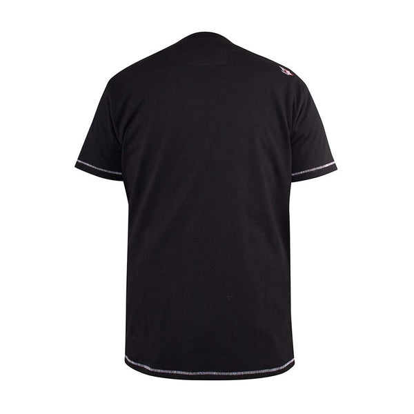 Duke Clothing Duke D555 herre tee salford plus Plussize Herre Black