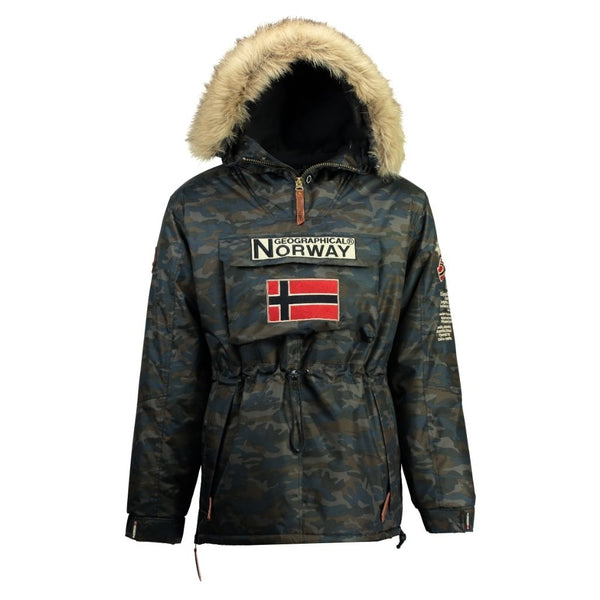 Geographical Norway BOOMERANG MEN CAMO 056 Winter jacket Camo Navy