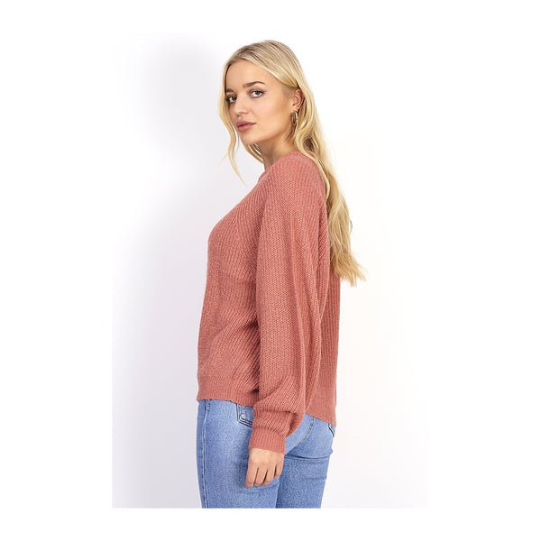 MARTA DU CHATEAU Balloon sleeve Knit Knit Rose
